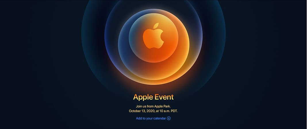 iphone 12-apple event 13 october